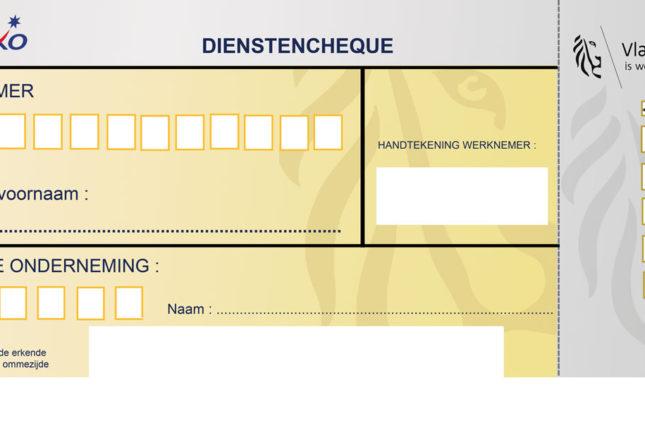 Aperçu chèque Titre Service sur Papier en région flamande